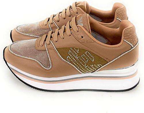 Emporio armani sneakers donna in pelle X3X046