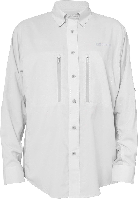 Calcutta Men's Long Sleeve Fishing Performance Los Angeles Mall Shirt Cash special price Gray