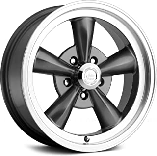 Vision 141 Legend 5 Series (141H7861GM19) Gun Metal Machined Lip Wheel (5-4.75 BP, 5.25 B/S, +19 Offset), 17 x 8 Inches