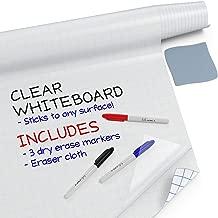 Kassa Clear Dry Erase Board Sticker - 17.3