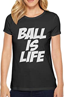 ZWEN Women Ball is Life Slim-Fit Cotton t-Shirt