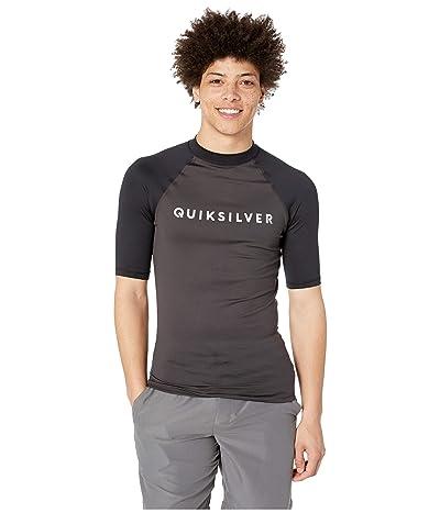 Quiksilver Always There Short Sleeve Rashguard (Tarmac) Men