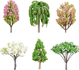 Chemin de fer artificiel arbre feuille modèle feuilles feuillage jardin