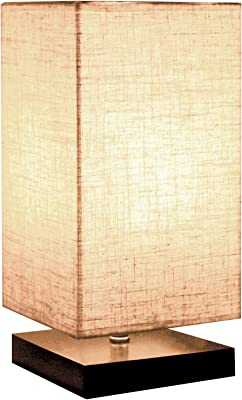 Minimalist Solid Wood Table Lamp Bedside Desk Lamp Amazon Com