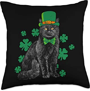 Irish Dogs Pillow St Patricks Day Puppy Pillow All Our Pillows Are Handmade Hypoallergenic Cotton with Flannel Backing Ideal for Gift and Multiple Uses