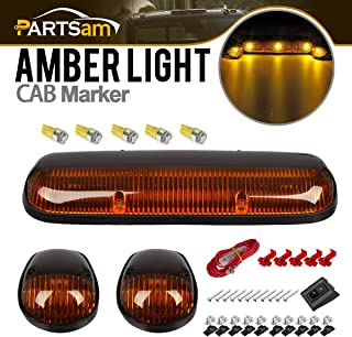 NPAUTO 3pcs Smoked LED Cab Marker Lights White 30 LED Roof Top Clearance Lights Running Light w//Wiring Pack for 2002-2007 Chevy Silverado GMC Sierra 1500 1500HD 2500 2500HD 3500 Pickup Truck
