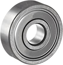 NSK 6201ZZ Deep Groove Ball Bearing, Single Row, Double Shielded, Pressed Steel Cage, Normal Clearance, Metric, 12mm Bore, 32mm OD, 10mm Width, 22000rpm Maximum Rotational Speed, 686lbf Static Load Capacity, 1529lbf Dynamic Load Capacity