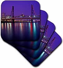 3dRose CST_93785_3 Hawthorne Bridge, Willamette River Portland, Oregon-Us38 Jmi0673-Janis Miglavs-Ceramic Tile Coasters, Set of 4