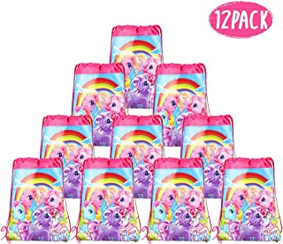My Little Pony Bags Party Treat Drawstring Bags for Kids Birthday Party, 12 Pack (Pink)