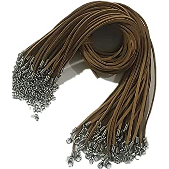 Necklace Cords Gray Cord Rope 20Pcs Leather Each 18 for Jewelry Making Design 3.0mm