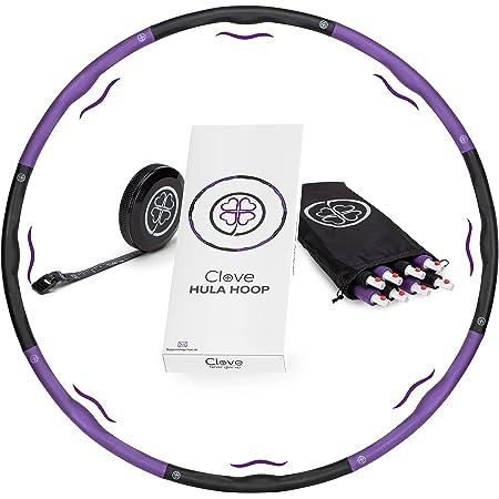 Clove ® Hula Hoop Reifen 1,2kg für Erwachsene zum Abnehmen inkl. Tasche & Maßband | Hula-Hoop mit Massage Noppen ideal für Gewichtsverlust/Bauchformung/Hullahub Training/Schildkröt Sport