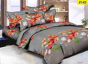 HIYANSHI HOME FURNISHING Microfibre Glace Cotton 120 TC Bedsheet (King_Multicolour)