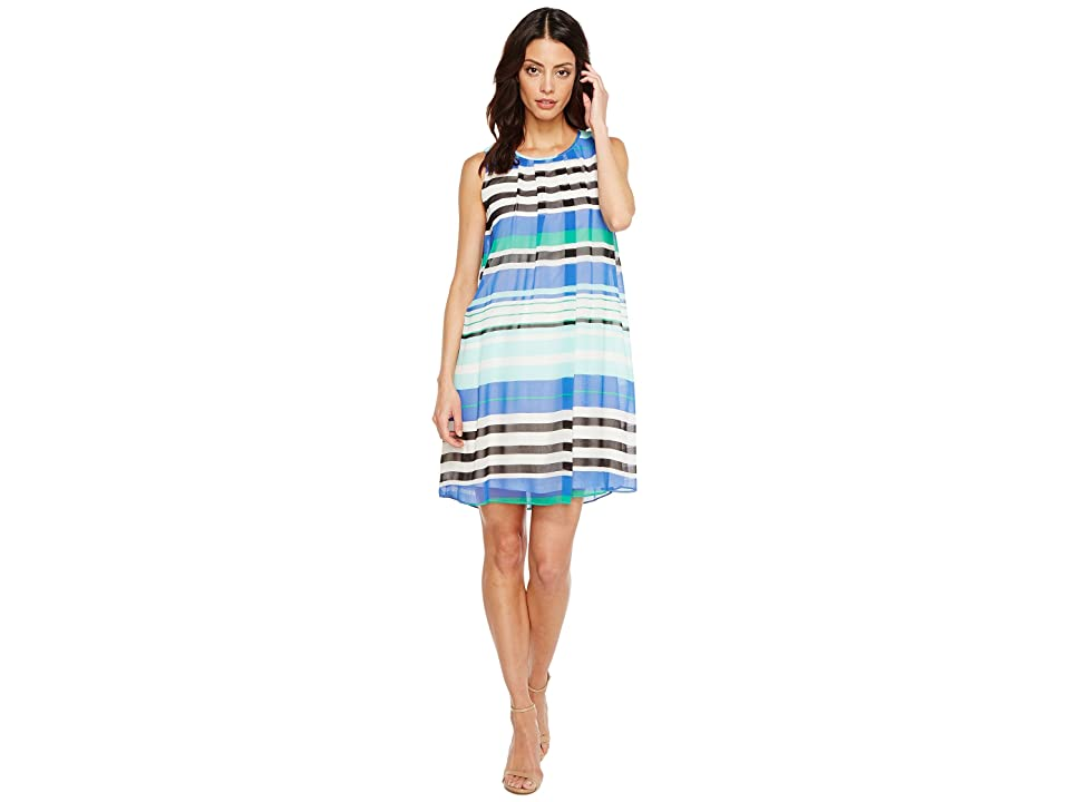 Calvin Klein Printed A-line Dress (Manganese Combo) Women