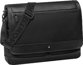 MontBlanc Night Flight Messenger Bag With Flap Color: Black