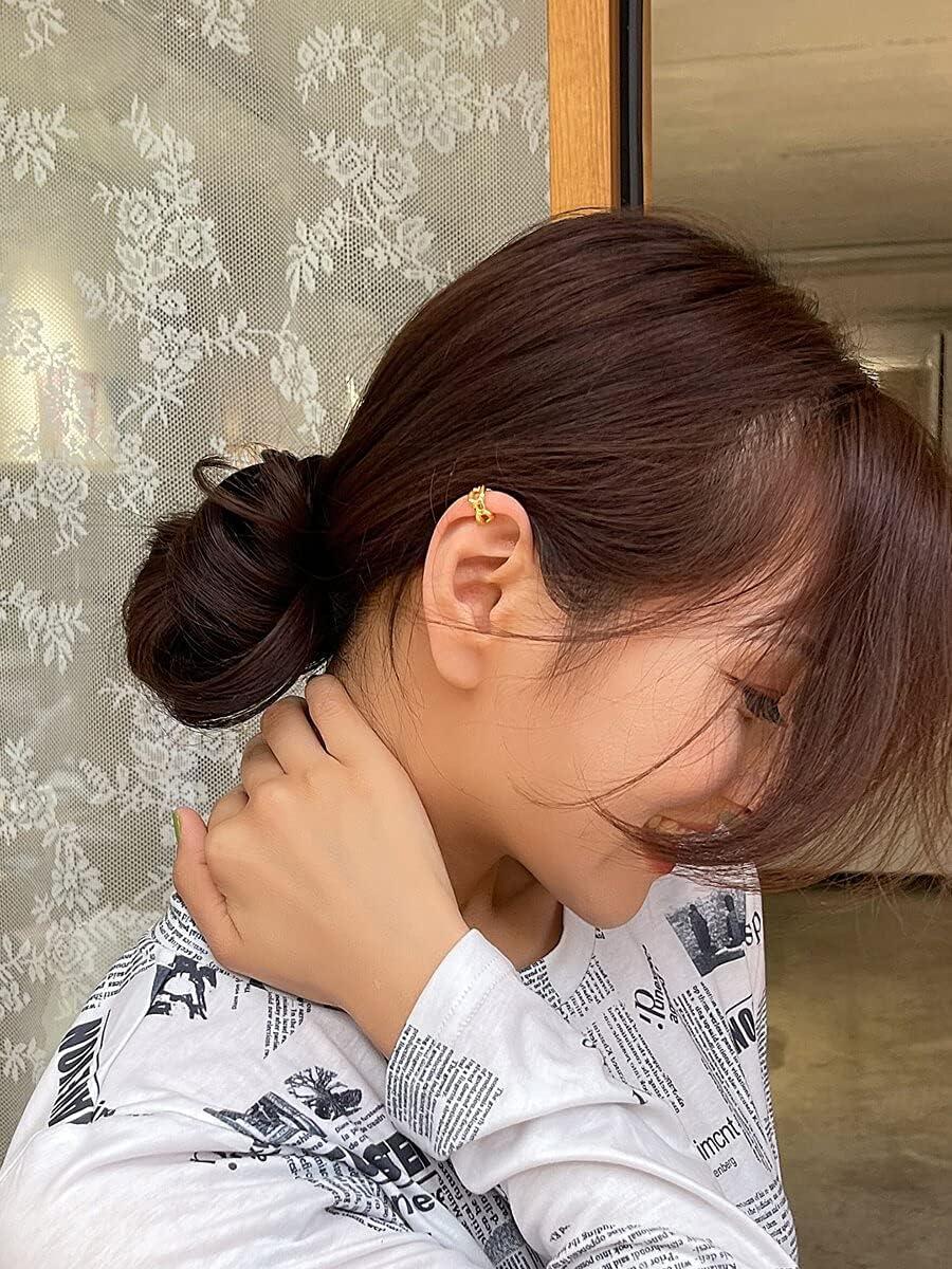 Sensecrol Hoop Earrings 1pc Chain Design Ear Cuff (Color : Gold)