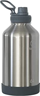 Takeya 51112 Actives Insulated Stainless Steel Water Bottle with Spout Lid, 64 oz