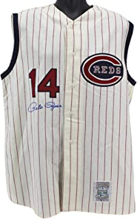 Pete Rose Signed Jersey - Mitchell & Ness BAS #H92236 - Beckett Authentication - Autographed MLB Jerseys