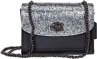 Parker Ladies Small Dark Blue Leather Shoulder Bag 38697GMBHP