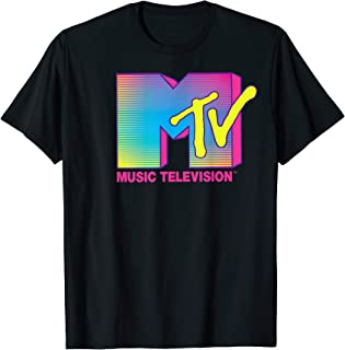 MTV Logo Fluorescent Colors Graphic T-Shirt