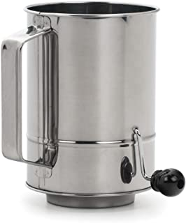 RSVP International Endurance Stainless Steel 5-Cup Crank Style Flour Sifter (SIFT-5CR)