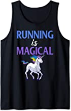 Running Is Magical Unicorn Funny Runner Tank Top