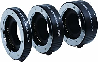 Movo Photo AF Macro Extension Tube Set for Micro 4/3 Mount Mirrorless Camera System (Compatible with Olympus Pen, Panasonic Lumix, Blackmagic Cinema Camera) with 10mm, 16mm & 21mm Tubes