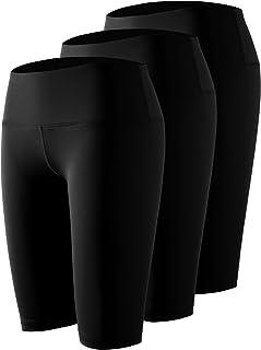 Cadmus Women's High Waist Workout Running Compression Shorts with Pocket