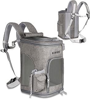 ペットキャリーバッグ ペットバッグ リュック型 抱っこバッグ 通気性抜群 軽量 崩れない 飛び出し防止 快適 折りたたみ 中小型犬適用 (グレー(ライト))