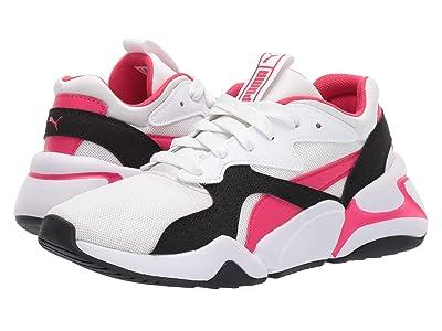 Puma Kids Nova Funky (Big Kid) (PUMA White/Nrgy Rose) Boys Shoes
