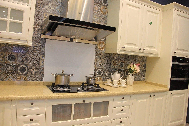 White Toughened Glass Kitchen Splashback Buy Designer Kitchen Splashback Uk White 5060 Amazon Co Uk Kitchen Home