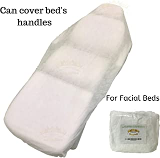 10 Ct. White Non-Woven Disposable Elastic Fitted Bed Sheets Cover Massage Table Facial Chair for Spa, Beauty Salon, Medical Clinics, Physiotherapists, Chiropractors, Sporting Clubs.