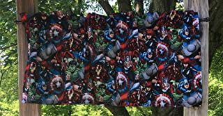 Boys Valance Handcrafted From Marvel Super Hero Captain America Black Widow Hulk Ironman Cotton Fabric