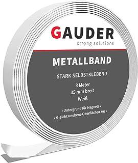 comprar comparacion GAUDER Cinta Metálica Autoadhesiva para Imanes | Tira Metálica Adhesiva | Banda de Metal Flexible