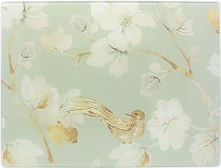 Creative Tops C000313 Protection de plan de travail en verre de qualité supérieure Motif floral Bleu canard 40 x 30 cm