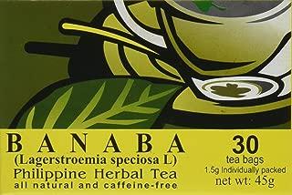BANABA Philippine Herbal Tea (30 Tea Bags) by Namica