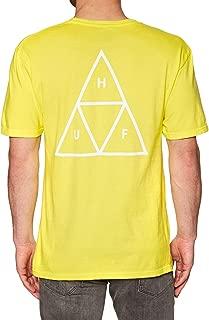 Huf Essentials Triple Triangle Short Sleeve T-Shirt Medium Aurora Yellow
