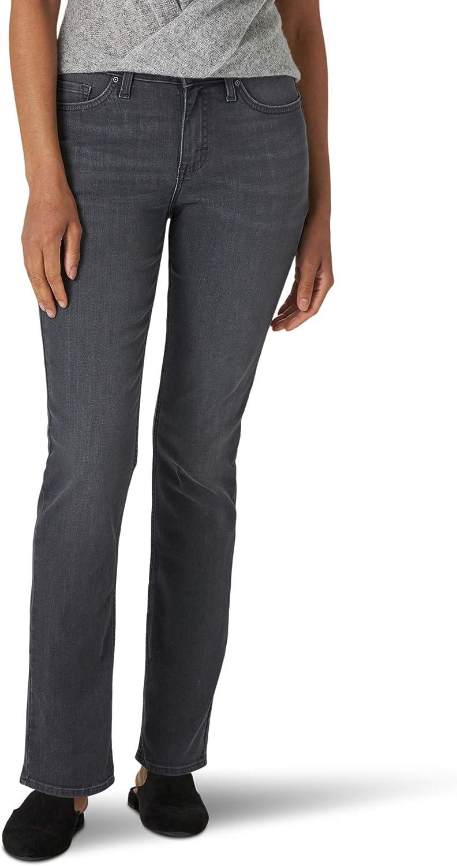 Lee Women's Regular 豪華な Fit 信頼 Jean Straight Leg