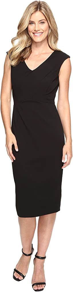 Scuba Crepe Midi Length Compression Dress