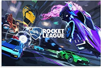 Game Poster Rocket League Canvas Art Poster and Wall Art Picture Print Modern Family Bedroom Decor Posters 12x18inch(30x45cm)