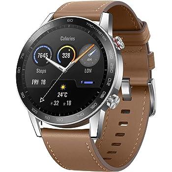 HONOR MagicWatch 2 Monitor de Reloj Inteligente 46mm para Saturación de Oxígeno, Frecuencia Cardíaca, Estrés, Rastreador de Actividad Física, 15 Modos de Ejercicio, Marrón