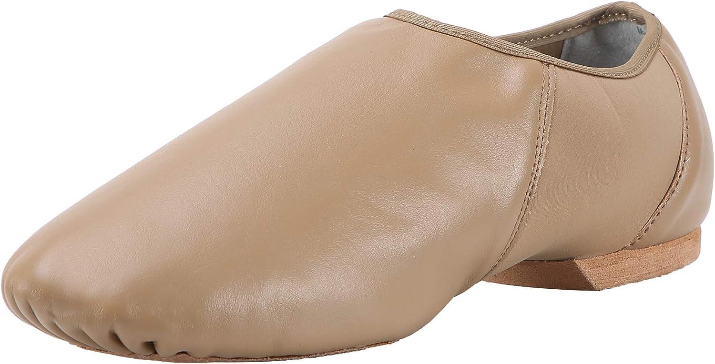 Pegasus galaxy Women's Leather Slip On Jazz shoes Brown-8M