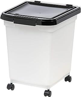 IRIS USA 32.5 Quart Airtight Pet Food Container, Black MP-350