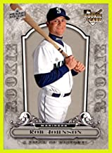 2008 Upper Deck UD A Piece of History #144 Rob Johnson RC SEATTLE MARINERS ROOKIE