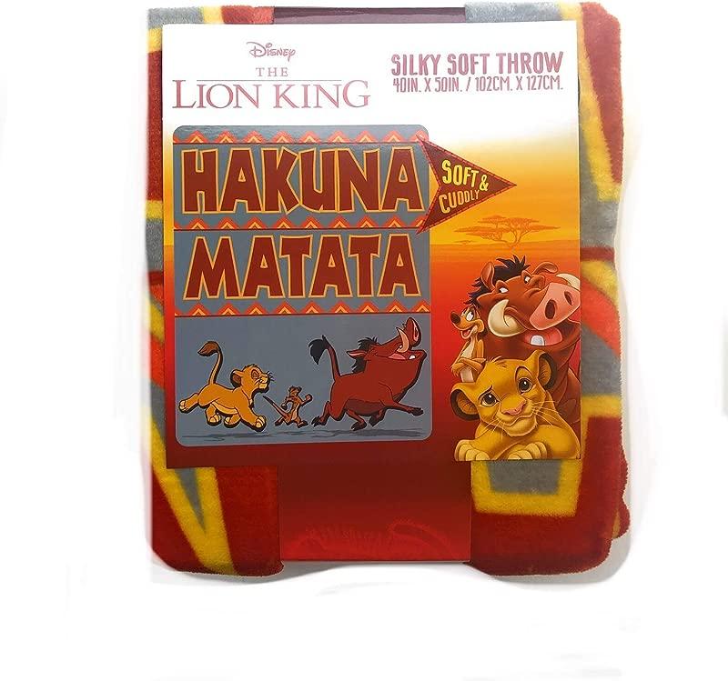 Disney The Lion King Hakuna Matata Silky Soft Throw For Kids 40 X50