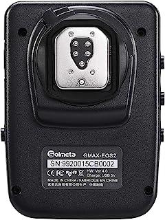 Solmeta GMAX-EOS2 Geotagger - Receptor GPS con Disparador Bluetooth Compatible con Canon GP-E2 y Otras Funciones para comunicación con cámaras EOS DSLR EOS Rebel y EOS R y RP.