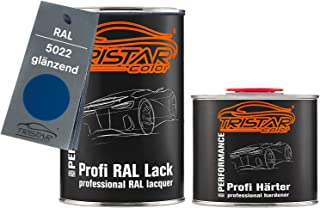 TRISTARcolor RAL 5022 Nachtblau glänzend 2K Autolack 1,5 Liter / 1500 ml Dose inkl. Härter