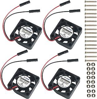 MakerHawk 4pcs Raspberry Pi DC Conector de separación de Ventilador de refrigeración sin escobillas 3.3V 5V para Raspberry Pi 2 / Pi 3 / 3B + y Pi Zero/Zero W u Otro Proyecto de Robot