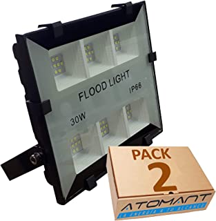 Pack 2x Foco Proyector LED compacto 30w. Color blanco frio (