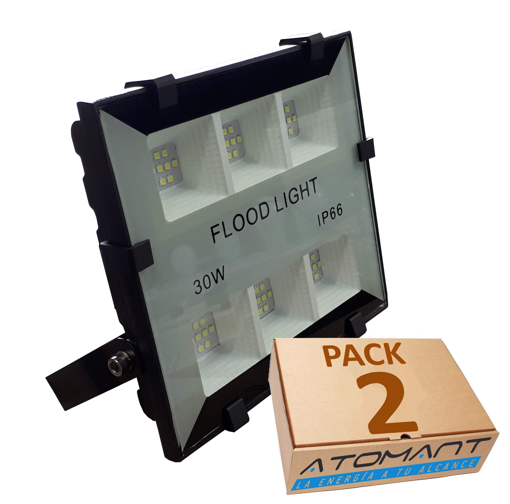 Pack 2x Foco Proyector LED Elegant 30w. Color blanco frio (6500K ...