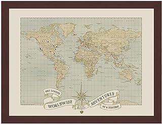 Sponsored Ad - Dreams and Memories Custom World Push Pin Travel Map